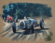 Auto Union Type C à Donington - acrylique