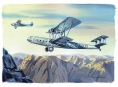 """Handley Page 42, Imperial Airways"" - gouache"