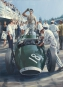 Rock'n roll pit stop, (Stirling Moss) - huile sur toile
