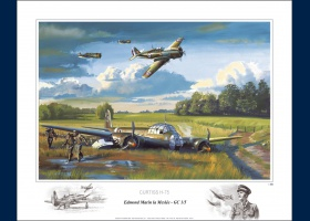 Curtiss H75 Marin la Meslee poster