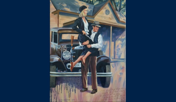 Bonnie and Clyde peinture
