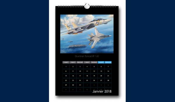 Couverture calendrier Aviation janvier