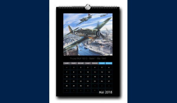 calendrier Aviation 2018 mai