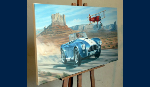 Ac Cobra reproduction sur toile detail 1