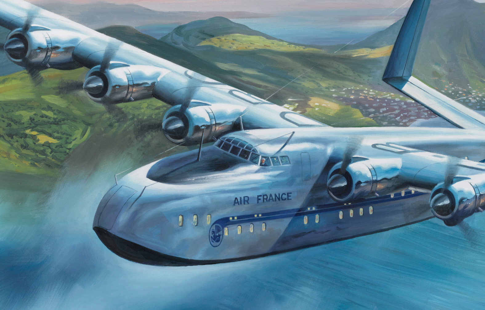 Latécoère 631 over the West Indies French Clipper Seaplane Ltd Ed Print NEW