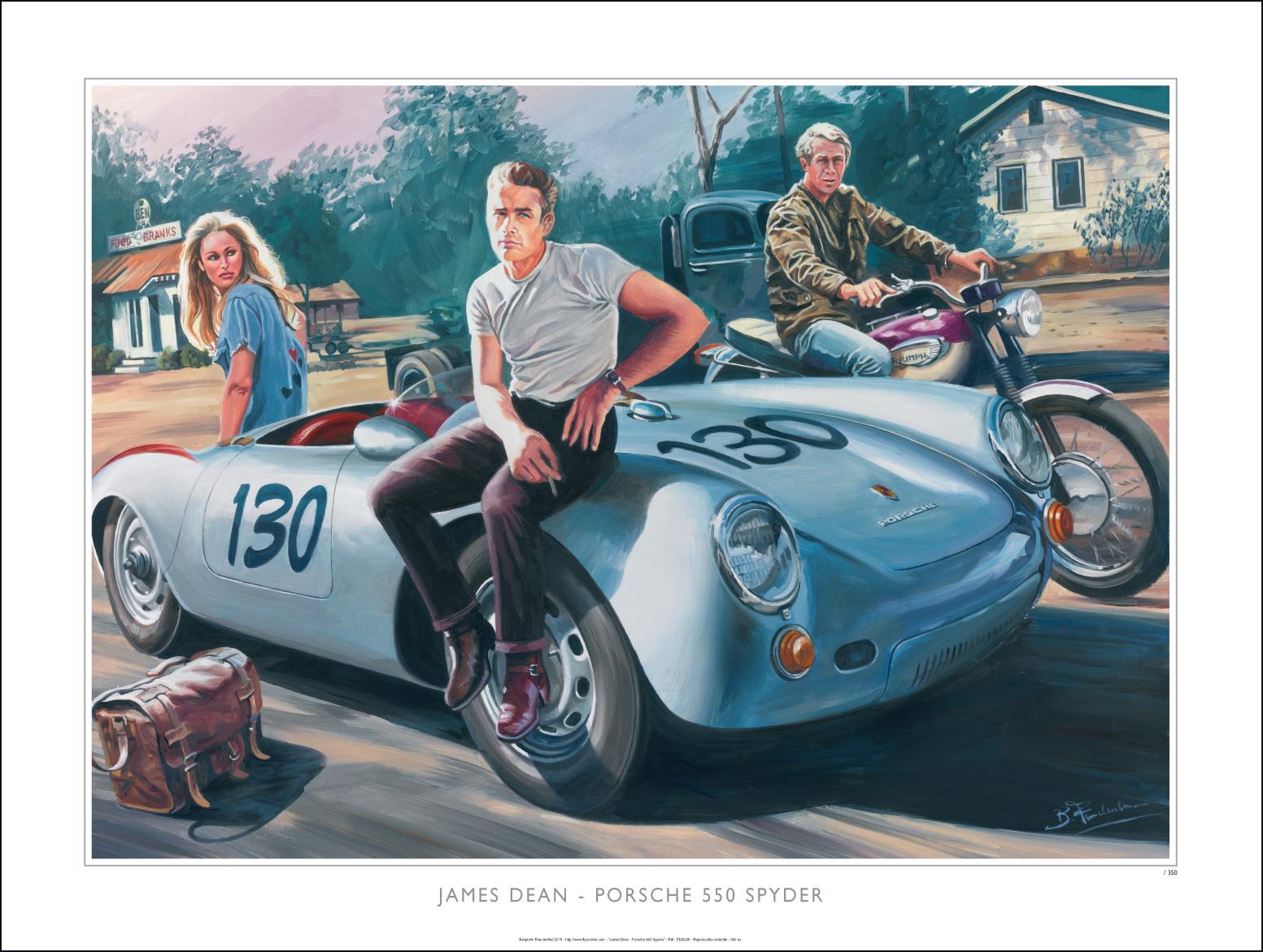 Quot James Dean Porsche 550 Spyder Quot Reproduction Sign 233 E