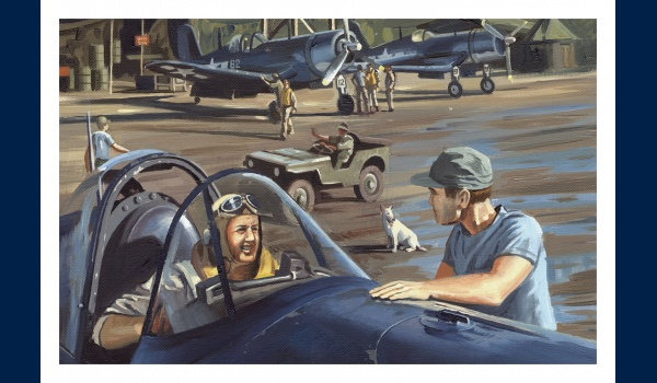 Corsair Pappy Boyington carte postale 1